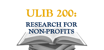 Research for Non-Profits Course
